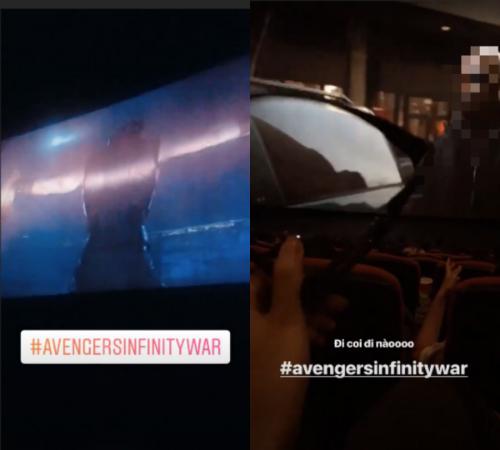 """Vừa công chiếu, """"Avengers: Infinity War"""" đã bị quay lén đưa lên mạng - Ảnh 1"""