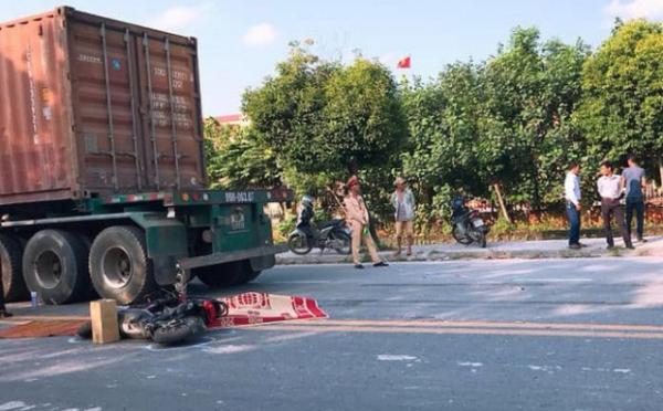 Thái Bình: Va chạm với xe container, nữ sinh cấp 3 tử vong tại chỗ - Ảnh 1