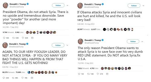 Tổng thống Donald Trump từng phản đối gay gắt việc tấn công Syria - Ảnh 1