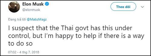 Chỉ 1 dòng trạng thái của cư dân mạng, Elon Musk sẵn sàng giúp đỡ đội bóng Thái Lan - Ảnh 2
