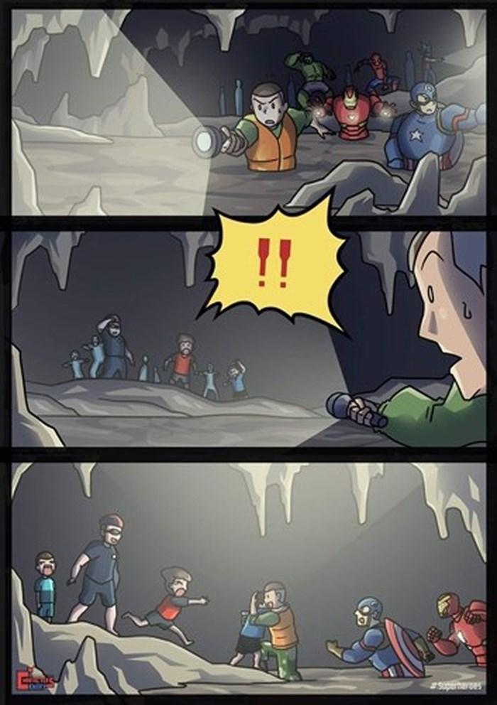 Những bức vẽ dễ thương mà ý nghĩa về cuộc giải cứu thần kỳ đội bóng Lợn Hoang - Ảnh 3