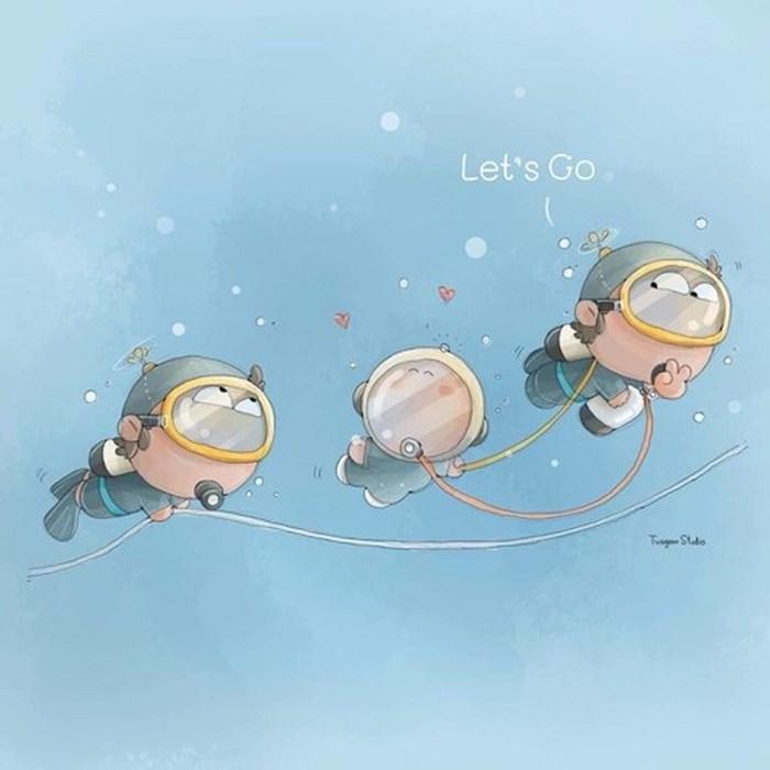 Những bức vẽ dễ thương mà ý nghĩa về cuộc giải cứu thần kỳ đội bóng Lợn Hoang - Ảnh 7