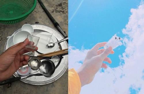 Thanh niên sáng tạo bộ ảnh mây trời siêu dễ thương trong khi rửa bát - Ảnh 5