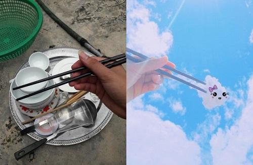 Thanh niên sáng tạo bộ ảnh mây trời siêu dễ thương trong khi rửa bát - Ảnh 4