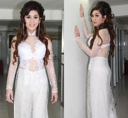 Loạt sao Việt từng bị chỉ trích vì mặc áo dài phản cảm - Ảnh 4