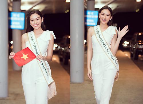 Á hậu Tường San rạng rỡ lên đường sang Nhật Bản tham dự Miss International 2019 - Ảnh 5