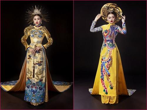 """Chiêm ngưỡng 2 bộ quốc phục đầy """"quyền uy"""" Tường San mang tới Miss International 2019 - Ảnh 1"""