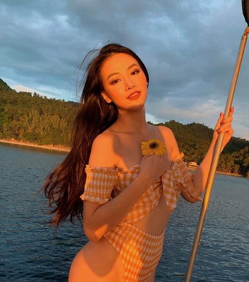Hoa hậu Phương Khánh diện bikini gợi cảm đọ sắc với dàn người đẹp quốc tế  - Ảnh 6