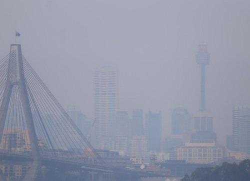 Khói mù bao trùm Sydney do ảnh hưởng từ cháy rừng - Ảnh 1