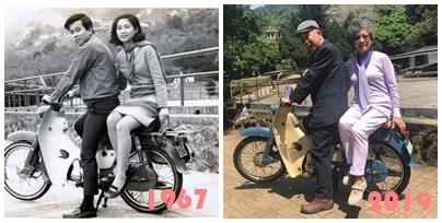 """Bức ảnh """"ngày ấy – bây giờ"""" của cặp vợ chồng già khiến nhiều người ngưỡng mộ - Ảnh 1"""