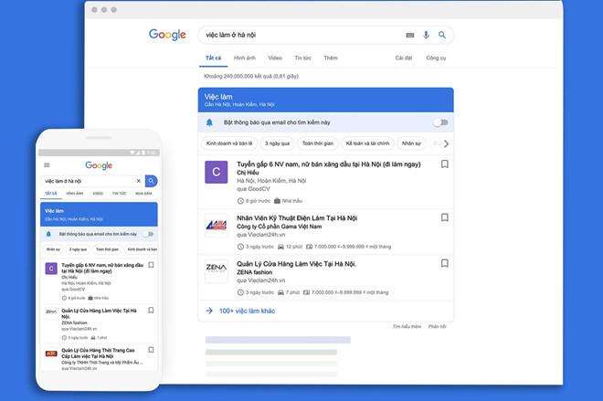 Google thêm tính năng tìm kiếm việc làm tại Việt Nam - Ảnh 1