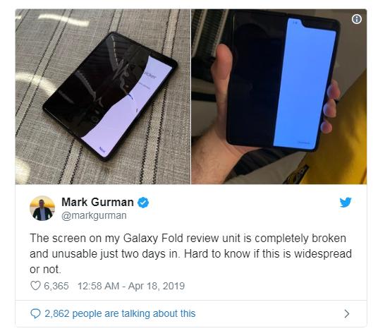 Điện thoại gập Galaxy Fold gần 2.000 USD dính lỗi màn hình sau vài ngày sử dụng - Ảnh 3