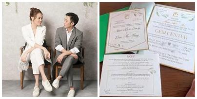 Thiệp cưới của Cường Đô La và Đàm Thu Trang với những yêu cầu dành cho khách mời gây chú ý  - Ảnh 1