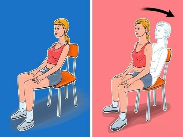 """Bài tập giảm cân """"siêu dễ"""" tại văn phòng chỉ với... một chiếc ghế - Ảnh 1"""