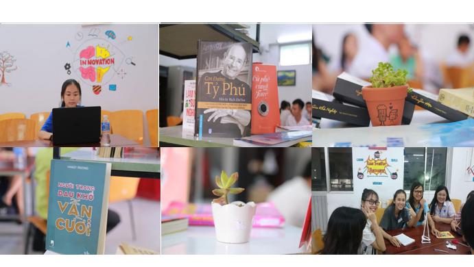 Sinh viên HUFI sáng tạo không gian làm việc và học tập cho sinh viên - Ảnh 4