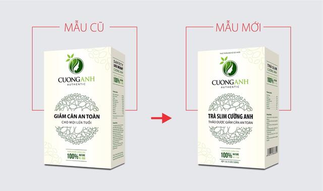 Bị làm giả sản phẩm, trà giảm cân Cường Anh thay đổi bao bì sang Trà Slim Cường Anh - Ảnh 1