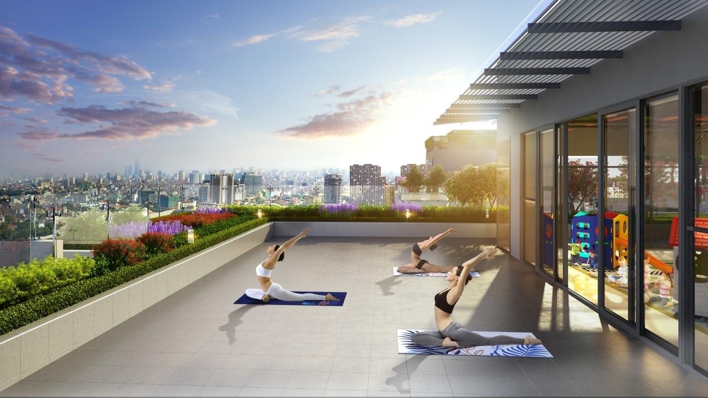 Dự án có nơi tập yoga giữa không gian xanh trên đỉnh tòa nhà - Ảnh 2