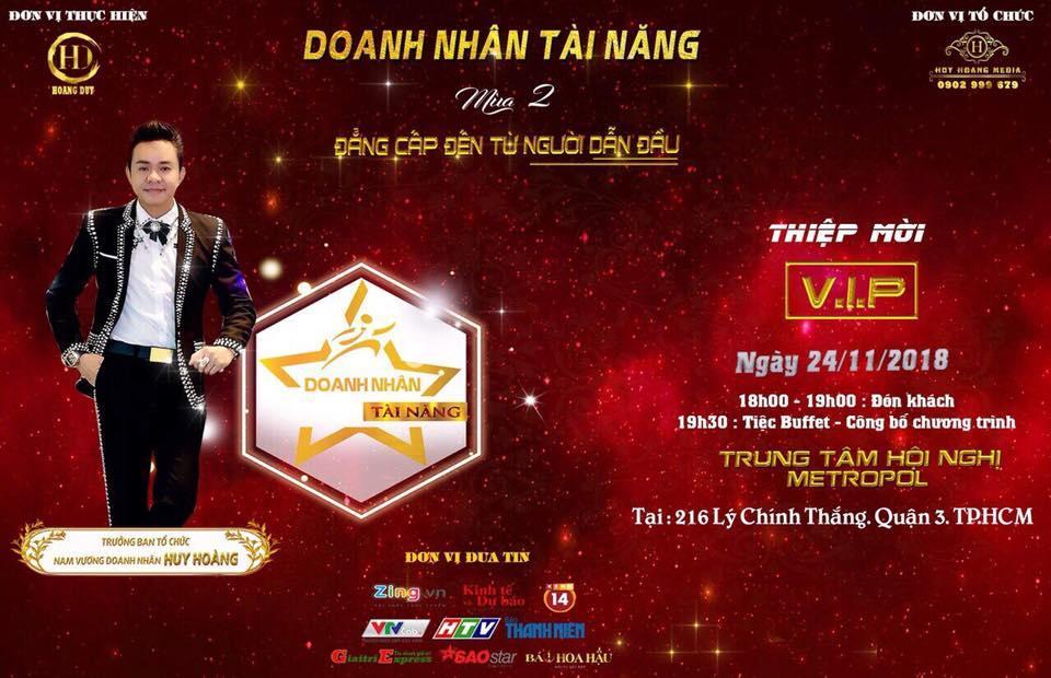 Doanh Nhân - Nam vương Huy Hoàng ông Trùm showbiz Việt về tổ chức sân chơi cho doanh nhân - Ảnh 2