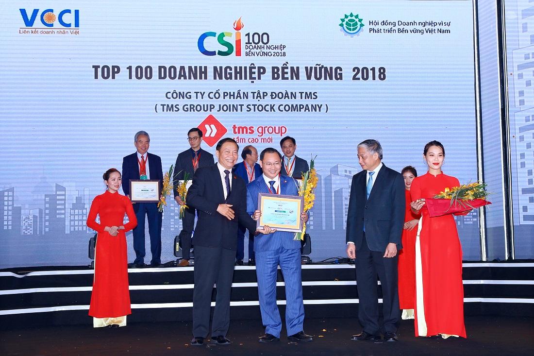 """Vinh danh Tập đoàn TMS - """"Doanh nghiệp bền vững Việt Nam 2018"""" - Ảnh 1"""