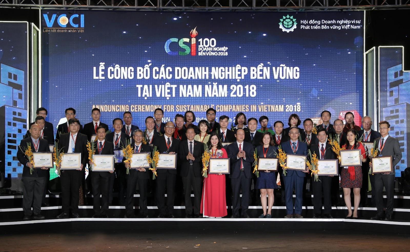 Dược phẩm Tâm Bình được vinh danh Top 100 Doanh nghiệp bền vững 2018 - Ảnh 1