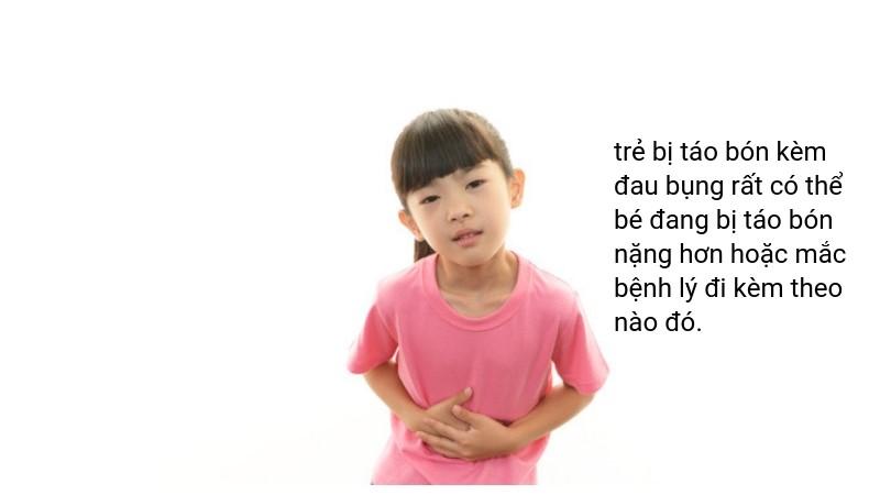 Trẻ bị táo bón đau bụng do nguyên nhân gì? - Ảnh 1