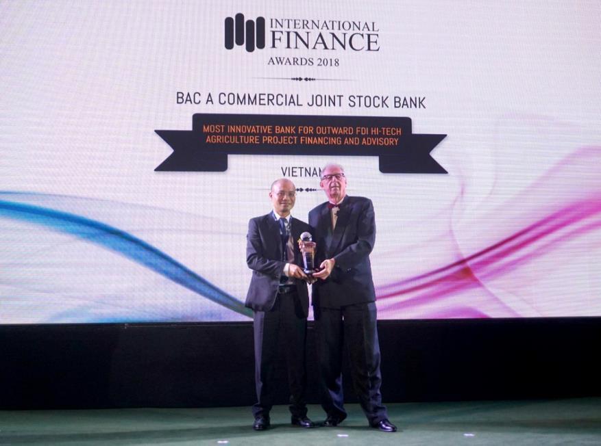 BAC A BANK giành giải thưởng quốc tế vì tiên phong tư vấn đầu tư nông nghiệp sạch tại nước ngoài - Ảnh 1