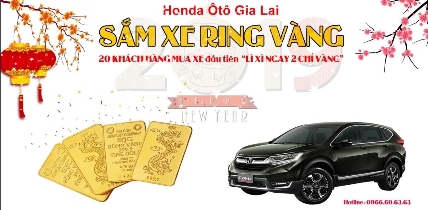 """""""Khai lộc đầu xuân - Sắm xe rinh vàng"""" cùng Honda Ôtô Gia Lai - Ảnh 1"""