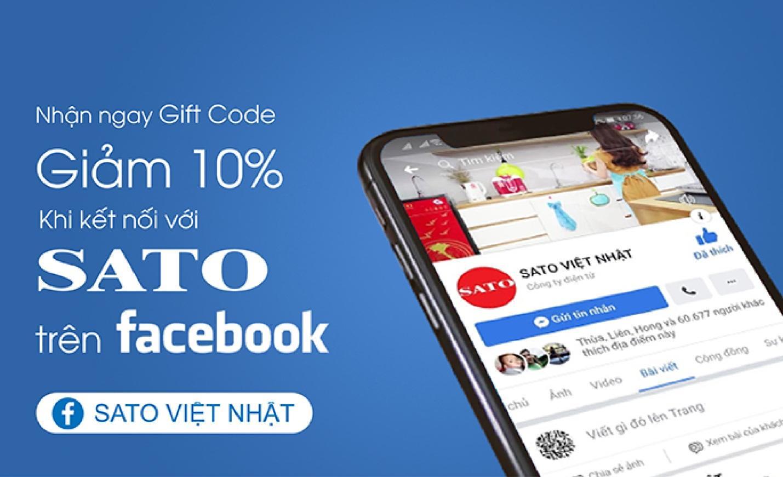 Nhận ngay gift code giảm giá 10% khi kết nối với Sato qua facebook - Ảnh 2