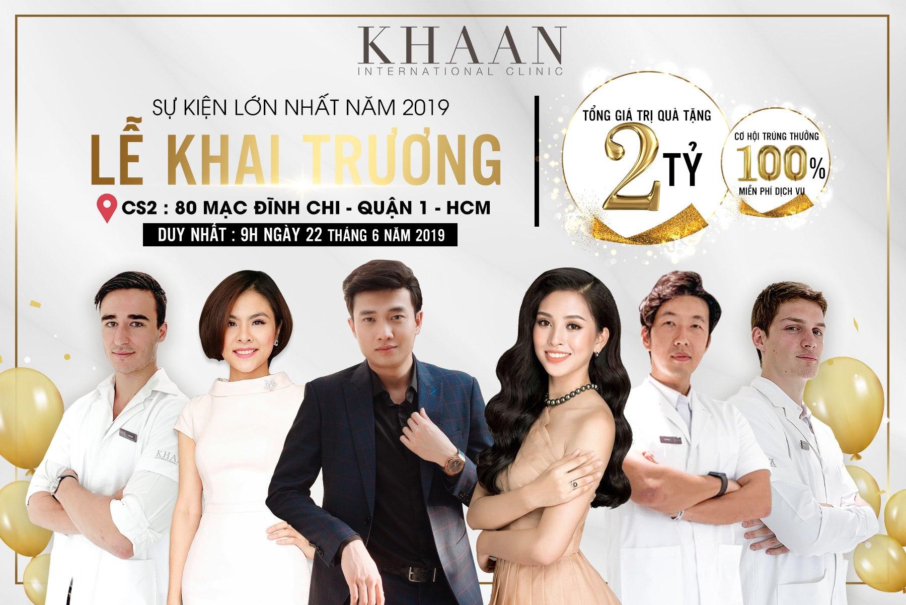 Hoa hậu Trần Tiểu Vy dự khai trương cơ sở 2 của Thẩm mỹ Quốc tế Khaan  - Ảnh 1