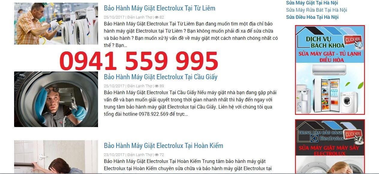 Top 10 bảo hành máy giặt Electrolux uy tín nhất Hà Nội - Ảnh 2