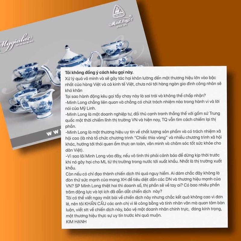 Sau phát ngôn nhà hát 15.000 tỷ, ca sĩ Mỹ Linh bị gỡ hình ảnh quảng cáo gốm sứ - Ảnh 2