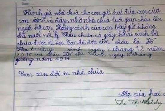 Hé lộ nội dung bức tâm thư của người mẹ mang hai con lên chùa thắp hương rồi bỏ lại - Ảnh 2