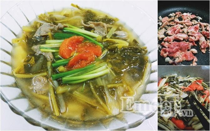 Món ngon mỗi ngày: Cách nấu canh dưa chua thịt bò cho ngày chán cơm - Ảnh 1