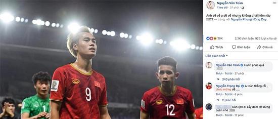 """Trào lưu mới của cầu thủ Việt Nam sau khi lọt tứ kết Asian Cup 2019: """"Anh sẽ về nhưng không phải hôm nay""""  - Ảnh 1"""
