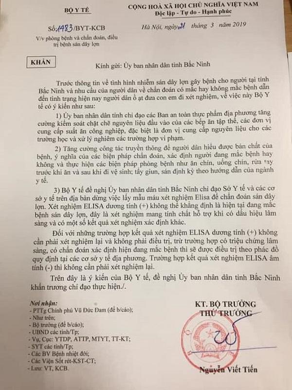 Bộ Y tế đề nghị dừng lấy mẫu xét nghiệm tại Bắc Ninh - Ảnh 1