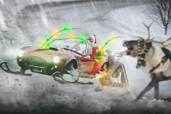 """Tuần lộc """"vắng nhà"""", ông già Noel cưỡi trâu đi dạo khắp làng khiến dân mạng thích thú - Ảnh 4"""
