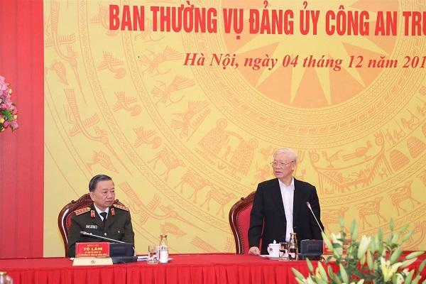 Tổng bí thư, Chủ tịch nước dự hội nghị Ban Thường vụ Đảng ủy Công an TƯ - Ảnh 2