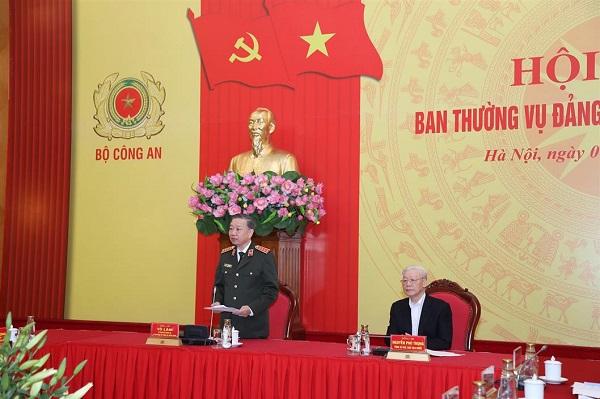 Tổng bí thư, Chủ tịch nước dự hội nghị Ban Thường vụ Đảng ủy Công an TƯ - Ảnh 3