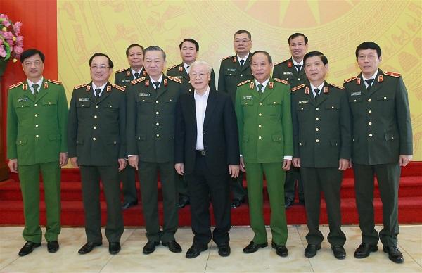 Tổng bí thư, Chủ tịch nước dự hội nghị Ban Thường vụ Đảng ủy Công an TƯ - Ảnh 5