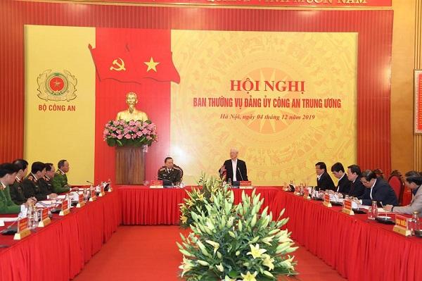 Tổng bí thư, Chủ tịch nước dự hội nghị Ban Thường vụ Đảng ủy Công an TƯ - Ảnh 1