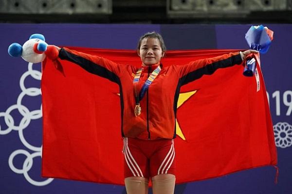 """""""Ngẩn ngơ"""" trước vẻ đẹp tựa hot girl của cô gái cử tạ Việt làm náo loạn Sea Games 30 - Ảnh 1"""