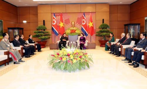 Chủ tịch Quốc hội Nguyễn Thị Kim Ngân hội kiến với Chủ tịch Triều Tiên Kim Jong-un - Ảnh 2