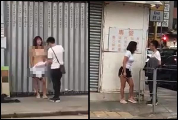 Choáng váng vì cô vợ lột phăng quần áo giữa phố đông người vì cãi nhau với chồng - Ảnh 1