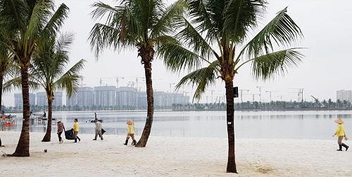 Bên trong dự án có biển nhân tạo lớn nhất VN ở ngoại thành Hà Nội - Ảnh 10