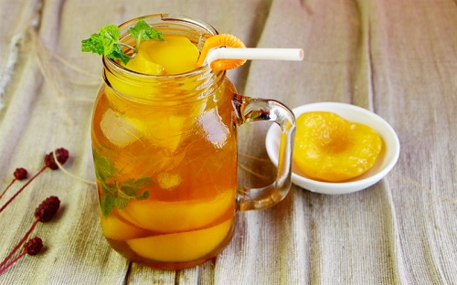 Cách làm trà đào đơn giản, cực ngon giải nhiệt ngày nắng nóng - Ảnh 1