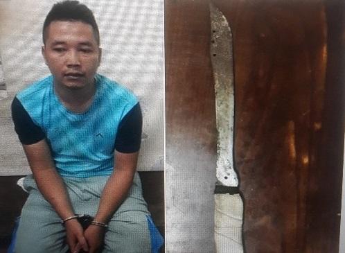 Nam thanh niên mang dao xông vào cửa hàng điện thoại cướp 100 triệu đồng - Ảnh 1