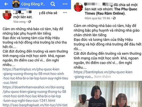 """""""Á khôi doanh nhân"""" ở Phú Quốc nói về việc lên Facebook chửi hiệu trưởng vì con bị lưu ban? - Ảnh 1"""