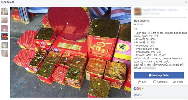 Yêu cầu xử lý nghiêm việc mua bán pháo nổ trên mạng xã hội - Ảnh 1