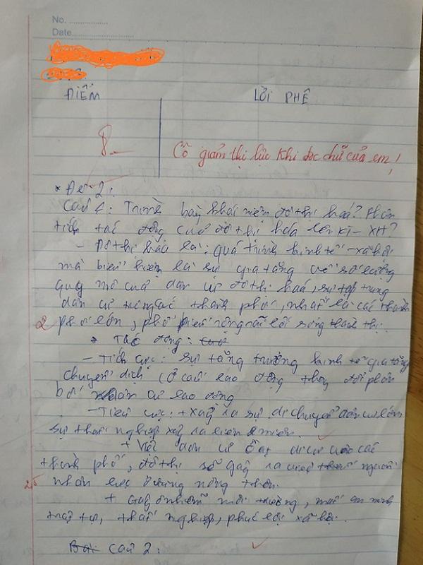 """Chấm bài kiểm tra, cô giáo """"giảm thị lực"""" vì chữ viết có """"1-0-2"""" của học trò - Ảnh 1"""