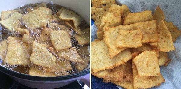 Tận dụng cơm nguội dư, tôi làm món snack giòn rụm càng ăn càng mê - Ảnh 4